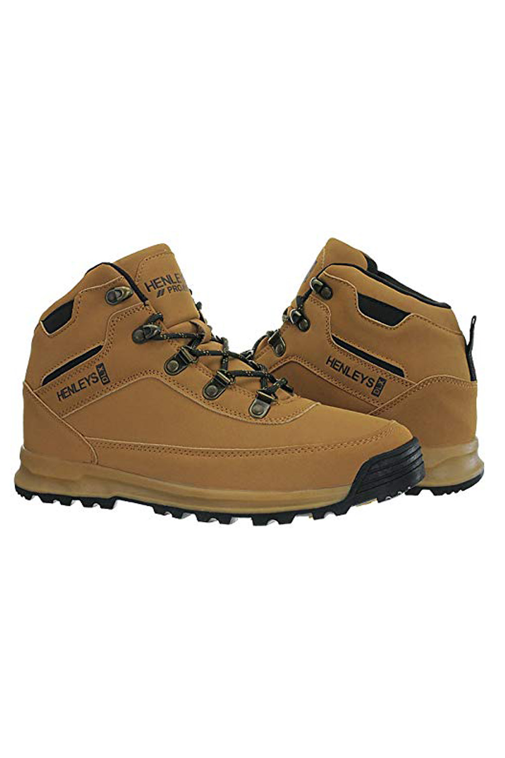 Henleys-Mens-Travis-Hiking-Boots-Walking-Lace-Up-Outdoor-Shoes-Sizes-UK-6-12 thumbnail 3