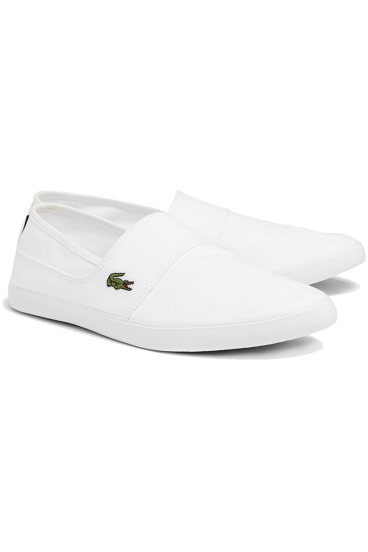 miniature 10 - Homme Lacoste Marice Lacet Toile Chaussures Décontractées Confortable Tennis Escarpins