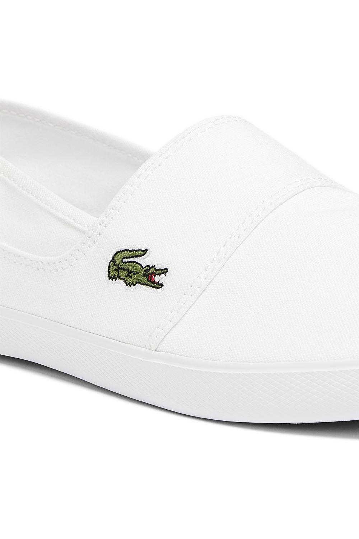 miniature 14 - Homme Lacoste Marice Lacet Toile Chaussures Décontractées Confortable Tennis Escarpins