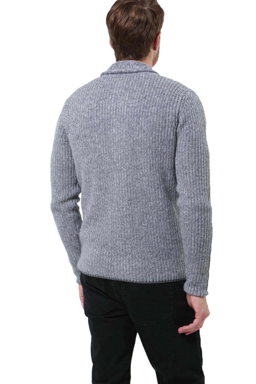 Logoro-Da-Uomo-Zucca-con-Bottoni-Cardigan-Scialle-Collo-Cavo-Lavorato-a-Maglia-Maglione-Invernale miniatura 13