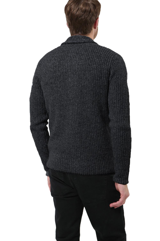 Logoro-Da-Uomo-Zucca-con-Bottoni-Cardigan-Scialle-Collo-Cavo-Lavorato-a-Maglia-Maglione-Invernale miniatura 15