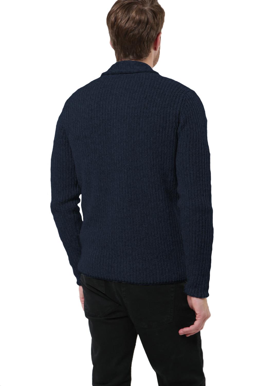 Logoro-Da-Uomo-Zucca-con-Bottoni-Cardigan-Scialle-Collo-Cavo-Lavorato-a-Maglia-Maglione-Invernale miniatura 7