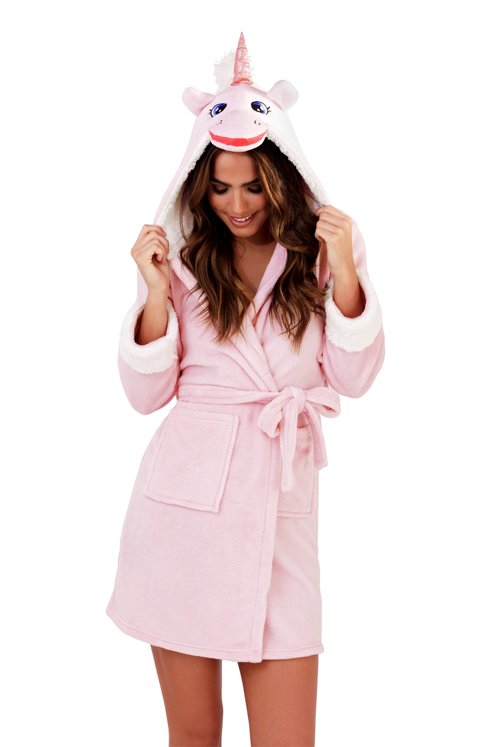 Loungeable Womens Unicorn 3D Hooded Dressing Gown Ladies New Soft ... e84b263cd