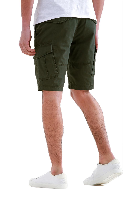 Threadbare-Mens-Hulk-Cotton-Cargo-Shorts-Summer-Multi-Pocket-Knee-Length-Bottoms thumbnail 7