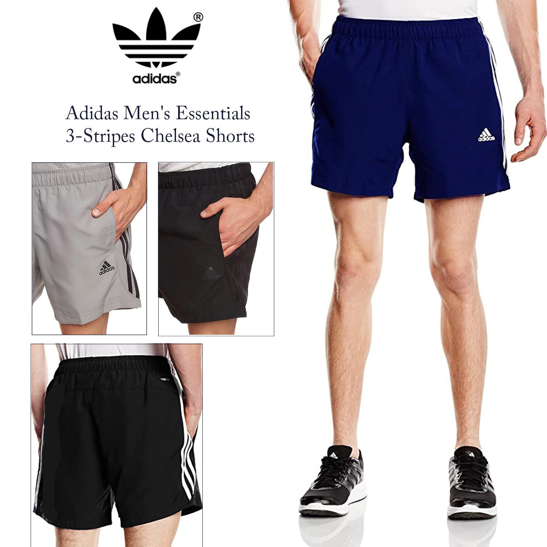 adidas Mens Essentials 3-Stripes Chelsea Shorts