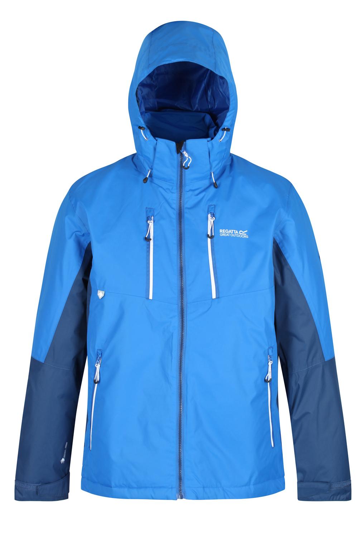 Regatta-Mens-Fabens-Raincoat-Waterproof-Insulated-Thermal-Breathable-Jacket-Coat thumbnail 5