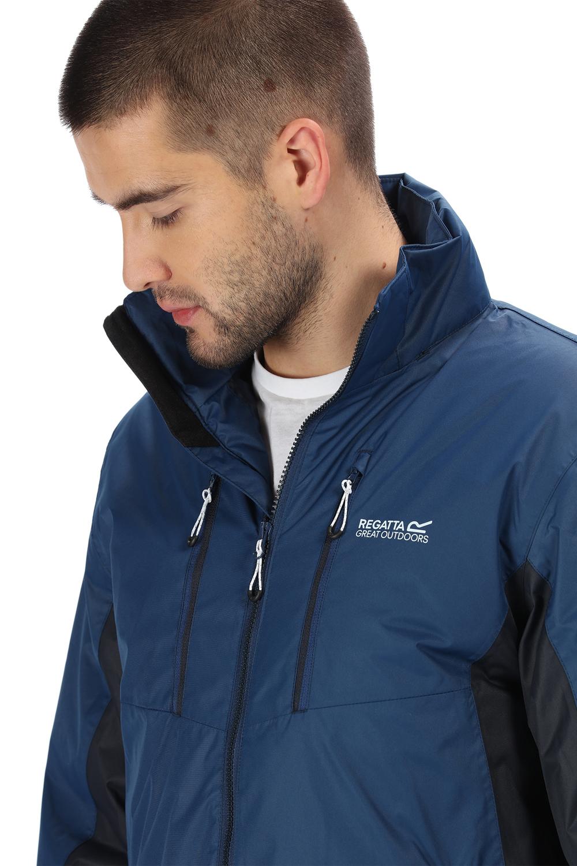 Regatta-Mens-Fabens-Raincoat-Waterproof-Insulated-Thermal-Breathable-Jacket-Coat thumbnail 10
