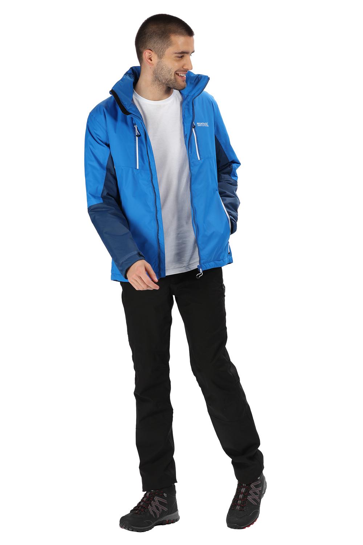 Regatta-Mens-Fabens-Raincoat-Waterproof-Insulated-Thermal-Breathable-Jacket-Coat thumbnail 3