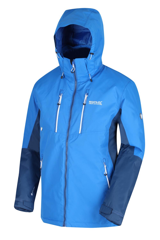 Regatta-Mens-Fabens-Raincoat-Waterproof-Insulated-Thermal-Breathable-Jacket-Coat thumbnail 6