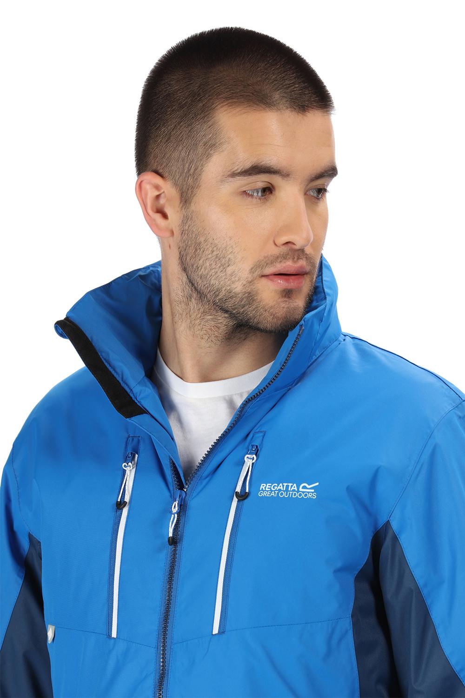 Regatta-Mens-Fabens-Raincoat-Waterproof-Insulated-Thermal-Breathable-Jacket-Coat thumbnail 4
