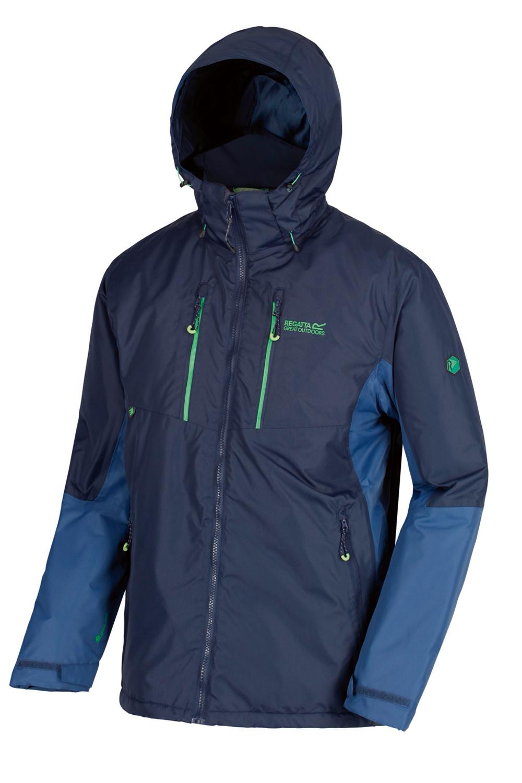 Regatta-Mens-Fabens-Raincoat-Waterproof-Insulated-Thermal-Breathable-Jacket-Coat thumbnail 13