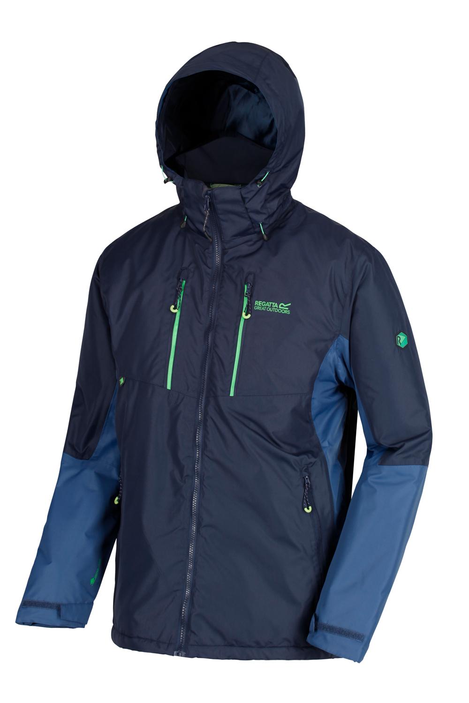 Regatta-Mens-Fabens-Raincoat-Waterproof-Insulated-Thermal-Breathable-Jacket-Coat thumbnail 14