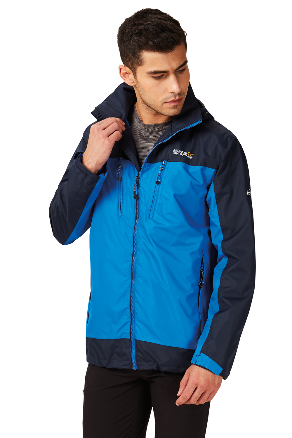 Regatta-Mens-Calderdale-II-Jacket-Waterproof-Breathable-Isotex-5000-Hooded-Coat thumbnail 8