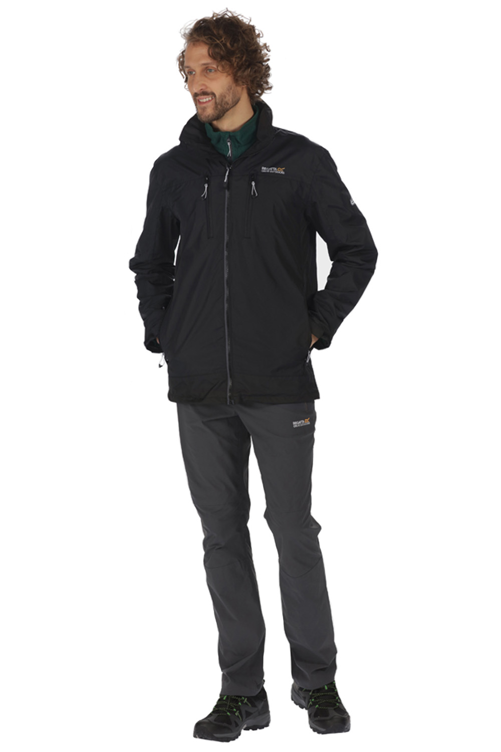 Regatta-Mens-Calderdale-II-Jacket-Waterproof-Breathable-Isotex-5000-Hooded-Coat thumbnail 4