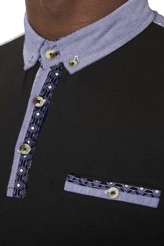 Duke D555 Big Tall King Size Mens Gavin Designer Polo Shirt Button Placket Top