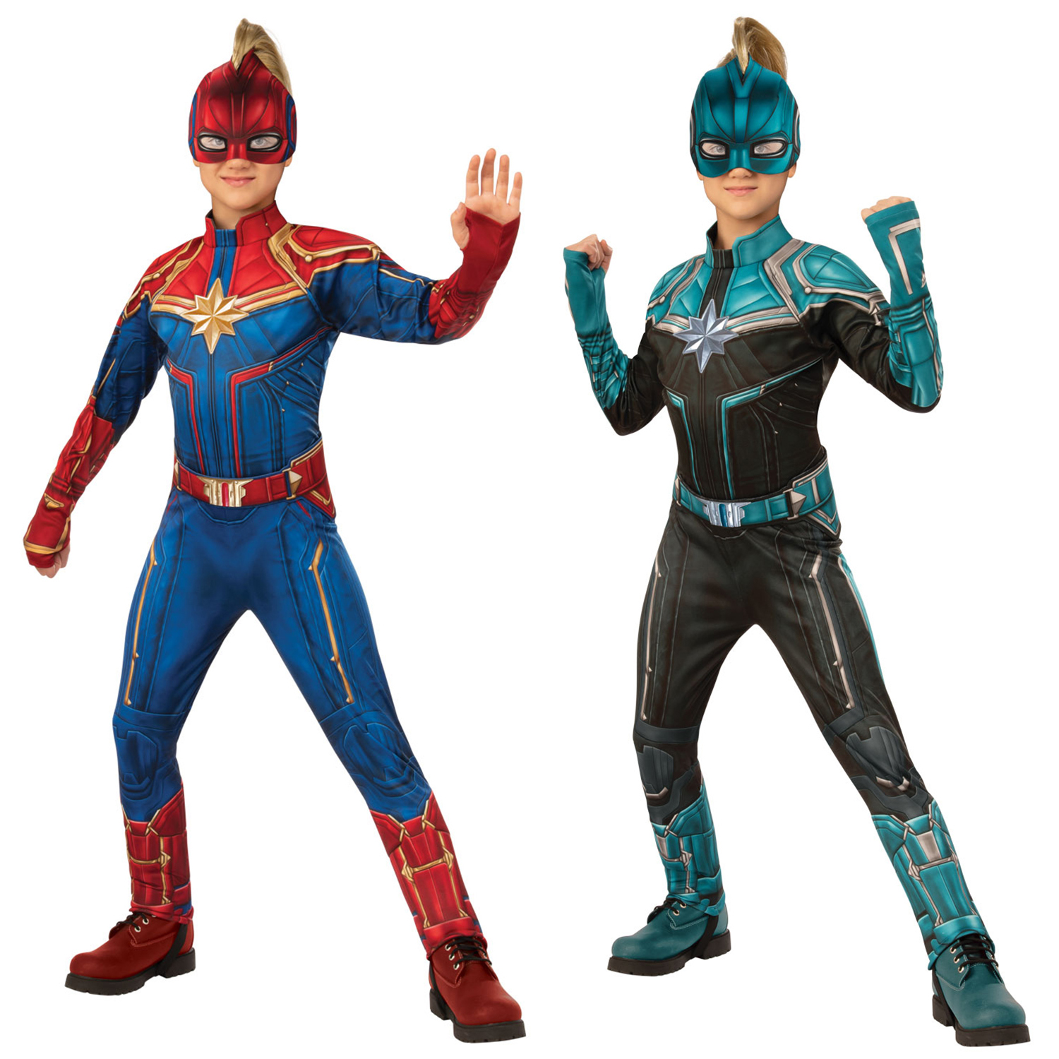 Rubies Kids Official Deluxe Captain Marvel Kree Or Hero 3d Fancy Dress Costume Ebay 🤩 available online and in stores at costume world me, the toy store me and. rubie s
