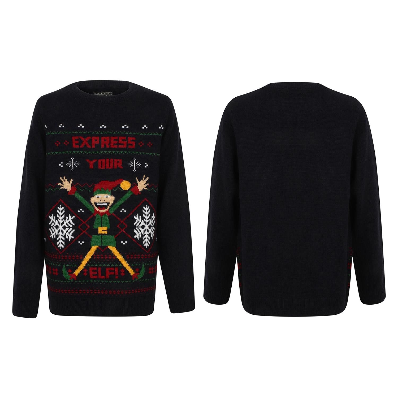 Seasons Greetings Childrens Elf Hoody Christmas Jumper Festive Winter Sweater
