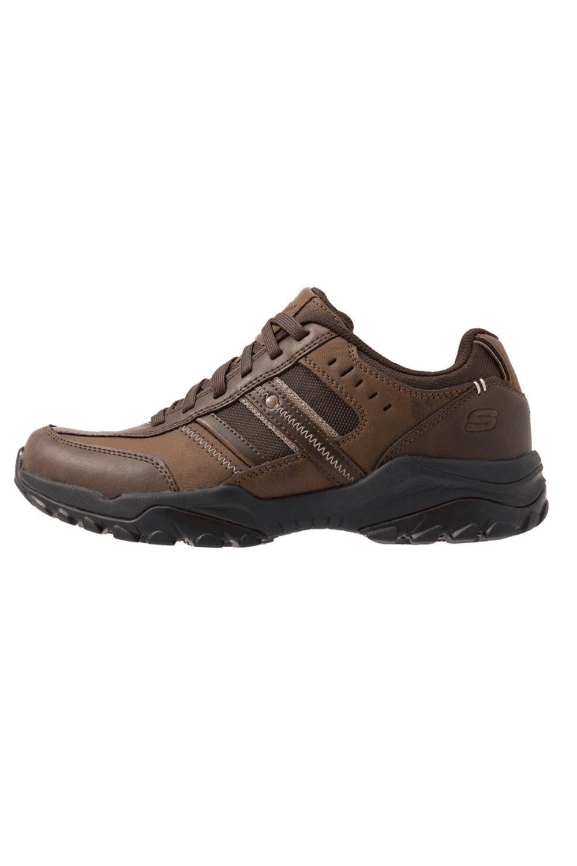 Skechers-Mens-HENRICK-Scarpe-da-ginnastica-delwood-Marrone-Pelle-Escursionismo-Relaxed-Fit-Casual miniatura 10