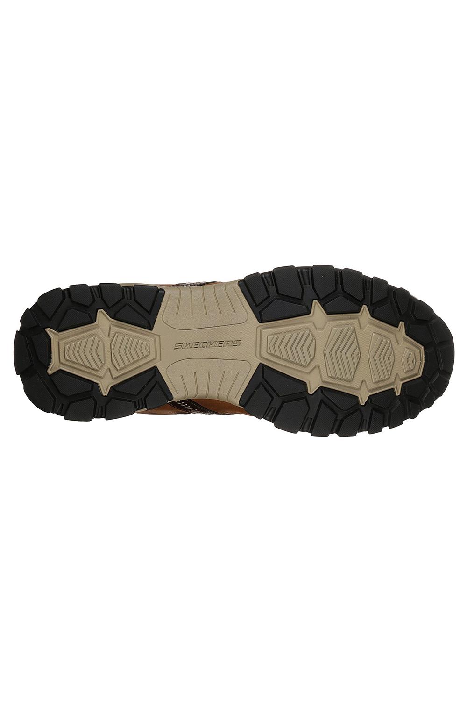 Skechers-Mens-HENRICK-Scarpe-da-ginnastica-delwood-Marrone-Pelle-Escursionismo-Relaxed-Fit-Casual miniatura 6