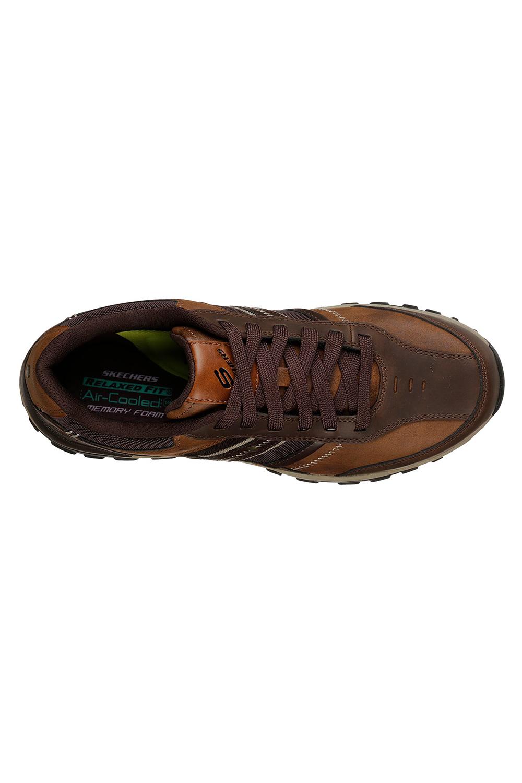 Skechers-Mens-HENRICK-Scarpe-da-ginnastica-delwood-Marrone-Pelle-Escursionismo-Relaxed-Fit-Casual miniatura 5