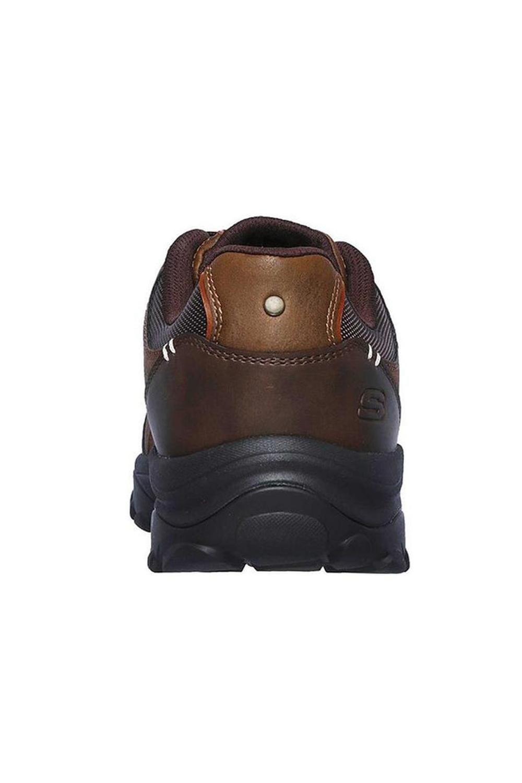 Skechers-Mens-HENRICK-Scarpe-da-ginnastica-delwood-Marrone-Pelle-Escursionismo-Relaxed-Fit-Casual miniatura 11