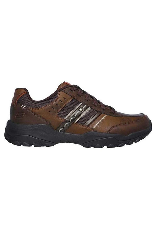 Skechers-Mens-HENRICK-Scarpe-da-ginnastica-delwood-Marrone-Pelle-Escursionismo-Relaxed-Fit-Casual miniatura 9