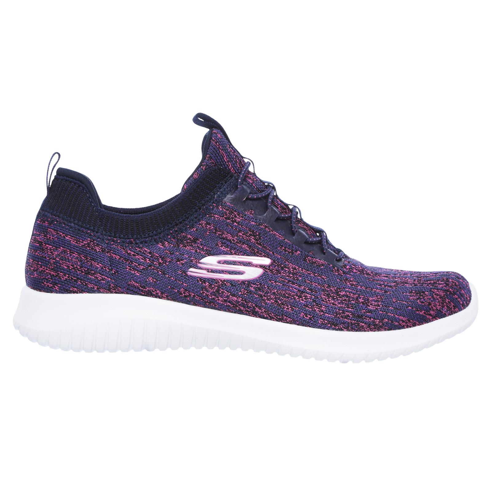 Skechers-Womens-Ultra-Flex-Bright-Horizon-Memory-Foam-Scarpe-Sportive-con-Lacci miniatura 9