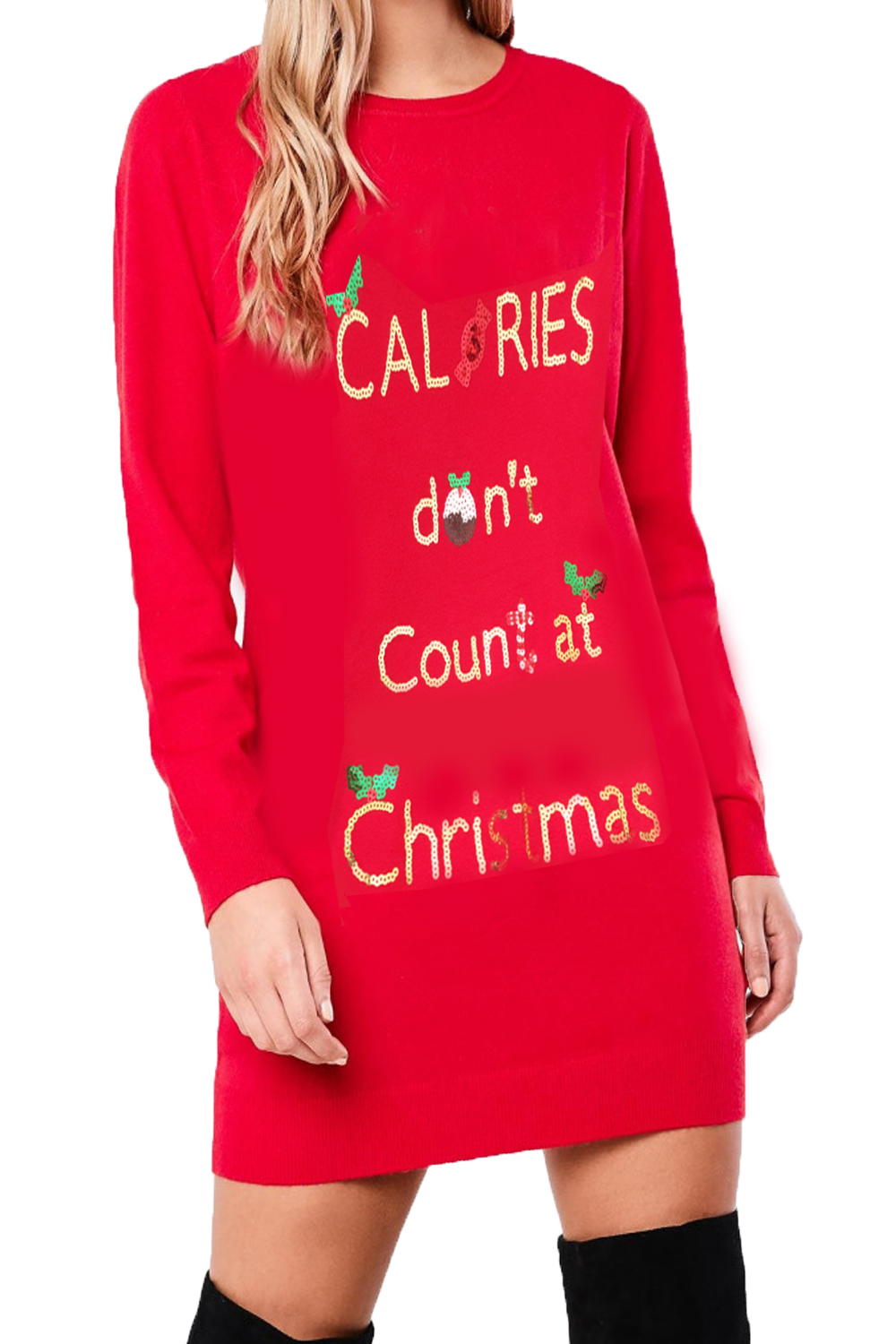 Heart-And-Soul-Womens-Sequin-Christmas-Tunic-Jumpers-Ladies-Novelty-Knitted-Tops thumbnail 5