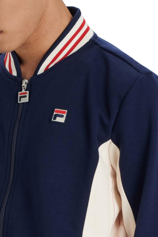 Fila Mens Settanta Zip Up Baseball Track Jacket Vintage Retro Sport Sweat Top