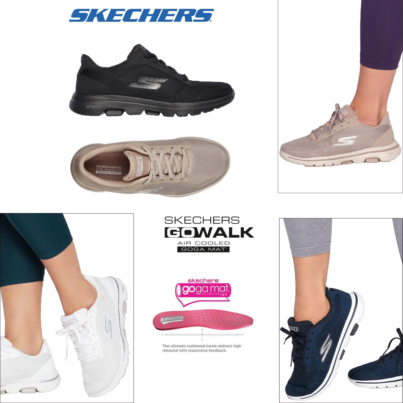 Skechers Womens Go Walk 5 Lucky Mesh