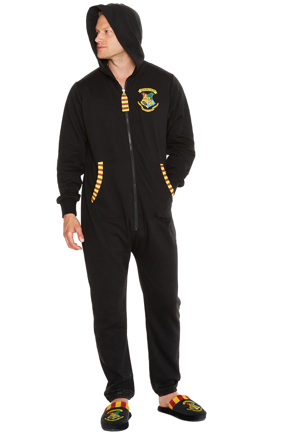 Adults-Official-Harry-Potter-Hogwarts-Crest-Zip-Up-Hooded-Jumpsuit-All-In-One
