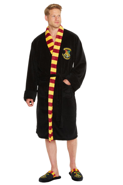 Adult Official Harry Potter Hogwarts Crest Bathrobe Mens OR Womens ...