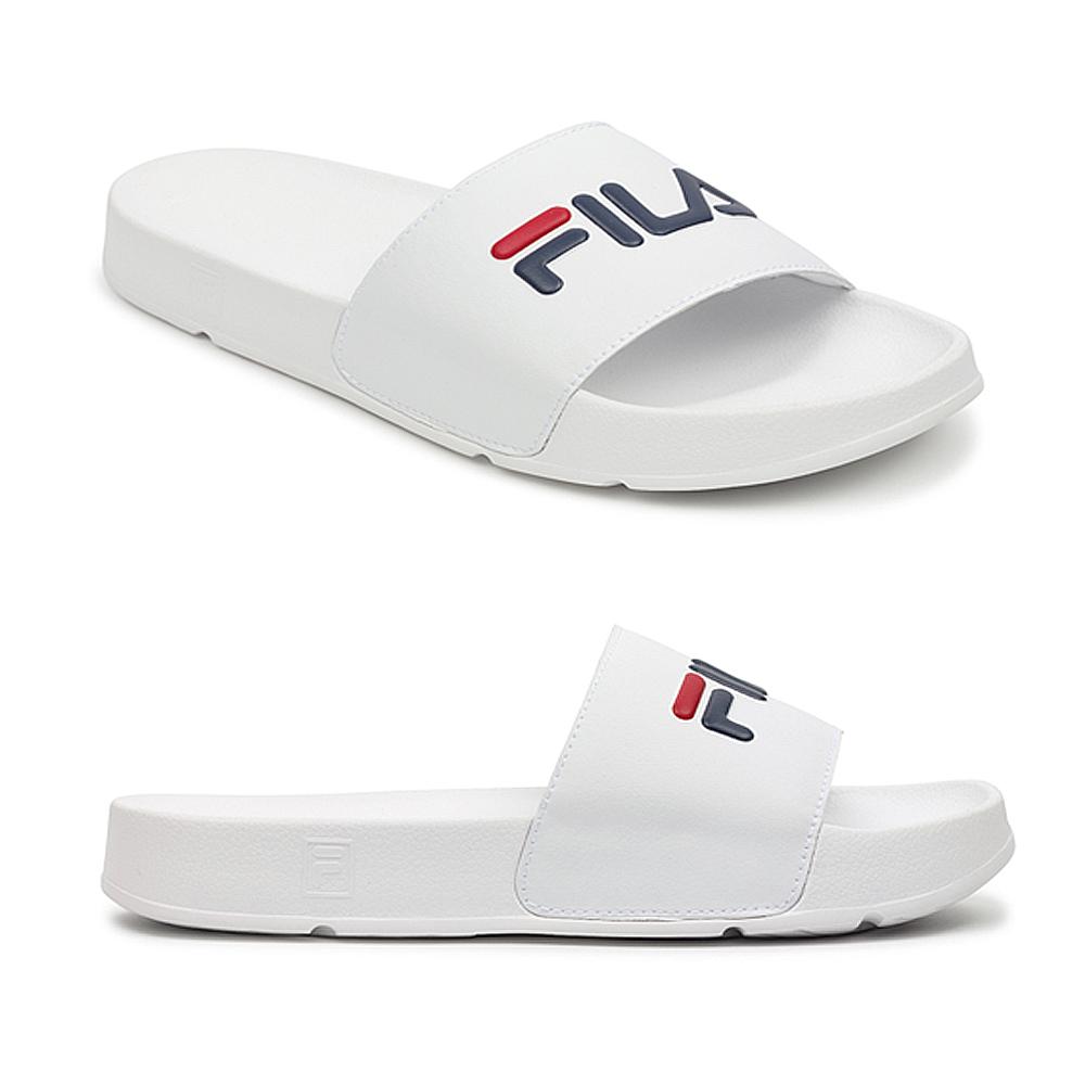 ea4de2a9 Details about Fila Unisex Drifter Sliders Pool Beach White Retro Flip Flop  Slip On Sandals