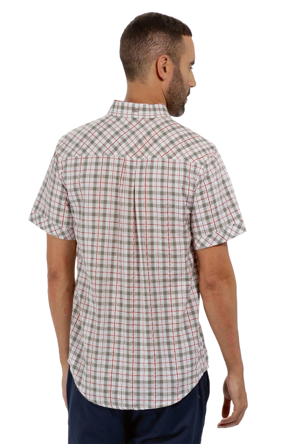 Regatta-Mens-Deakin-II-Coolweave-Cotton-Short-Sleeved-Summer-Check-Shirt-RRP-50 thumbnail 15