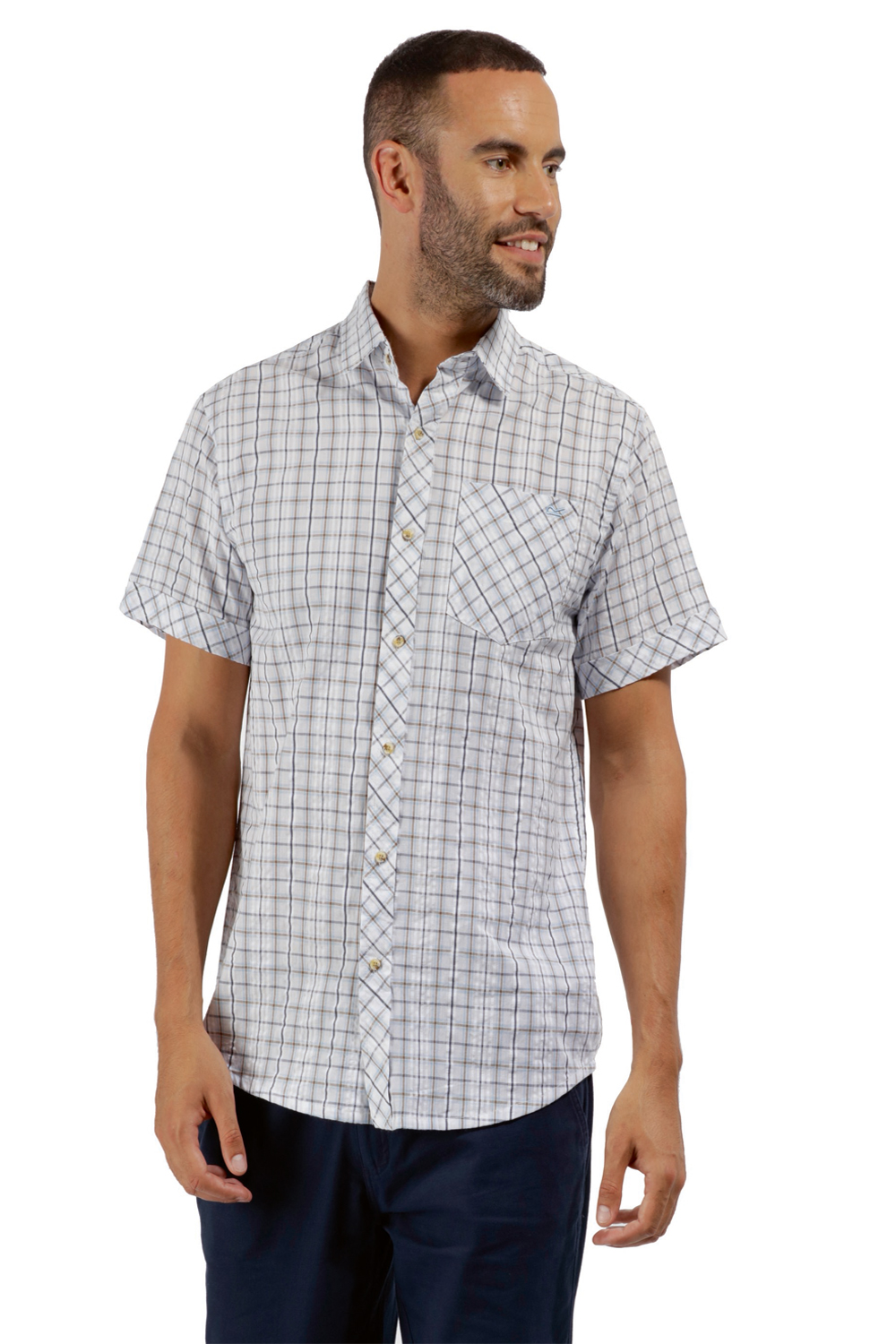 Regatta-Mens-Deakin-II-Coolweave-Cotton-Short-Sleeved-Summer-Check-Shirt-RRP-50 thumbnail 21