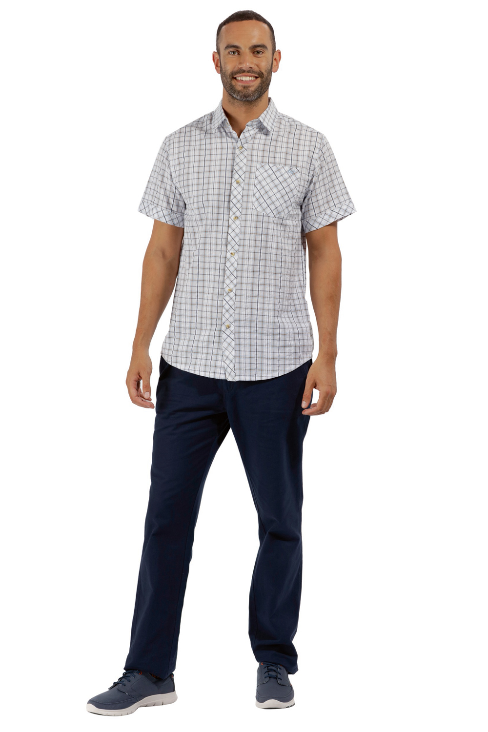 Regatta-Mens-Deakin-II-Coolweave-Cotton-Short-Sleeved-Summer-Check-Shirt-RRP-50 thumbnail 23