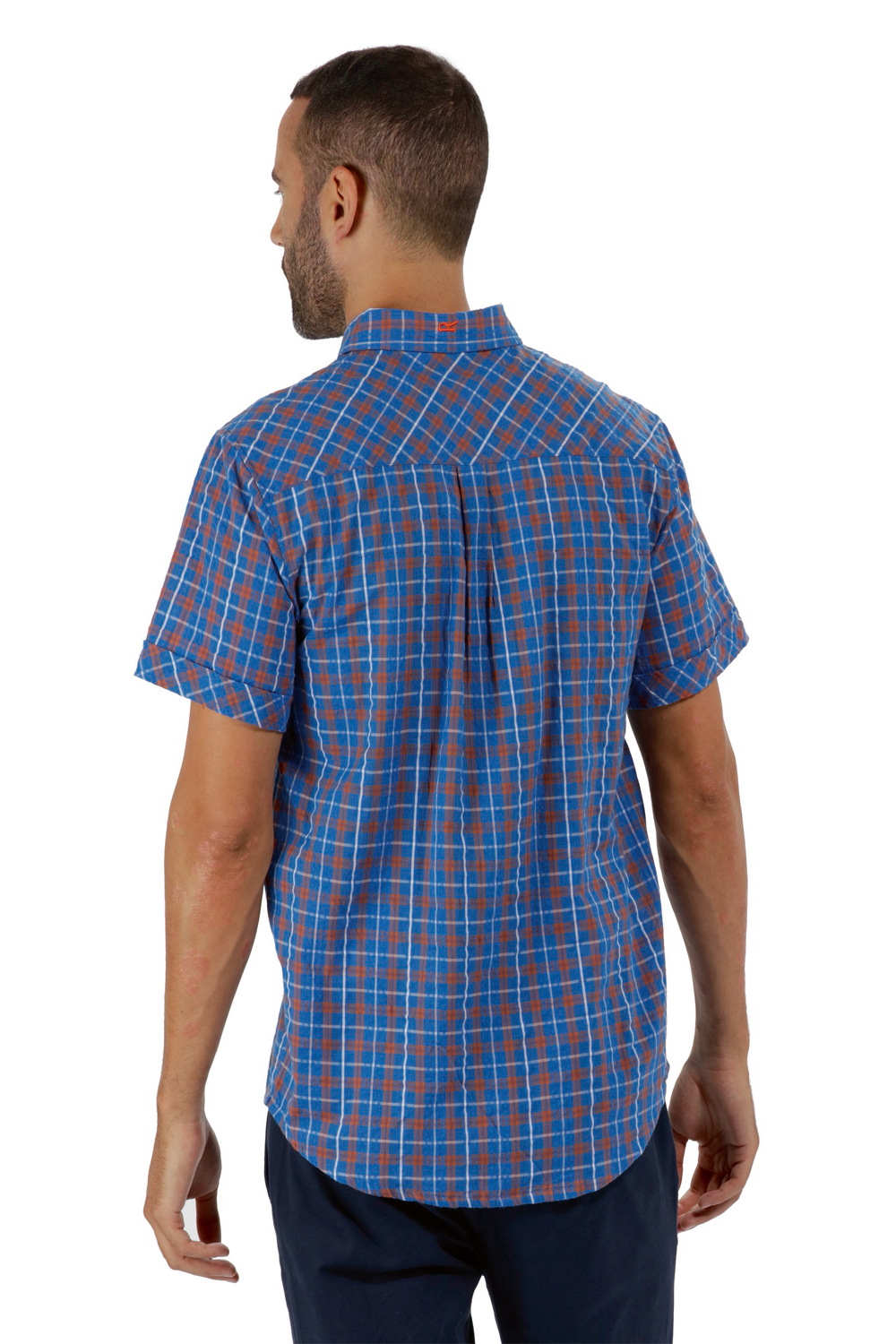Regatta-Mens-Deakin-II-Coolweave-Cotton-Short-Sleeved-Summer-Check-Shirt-RRP-50 thumbnail 29