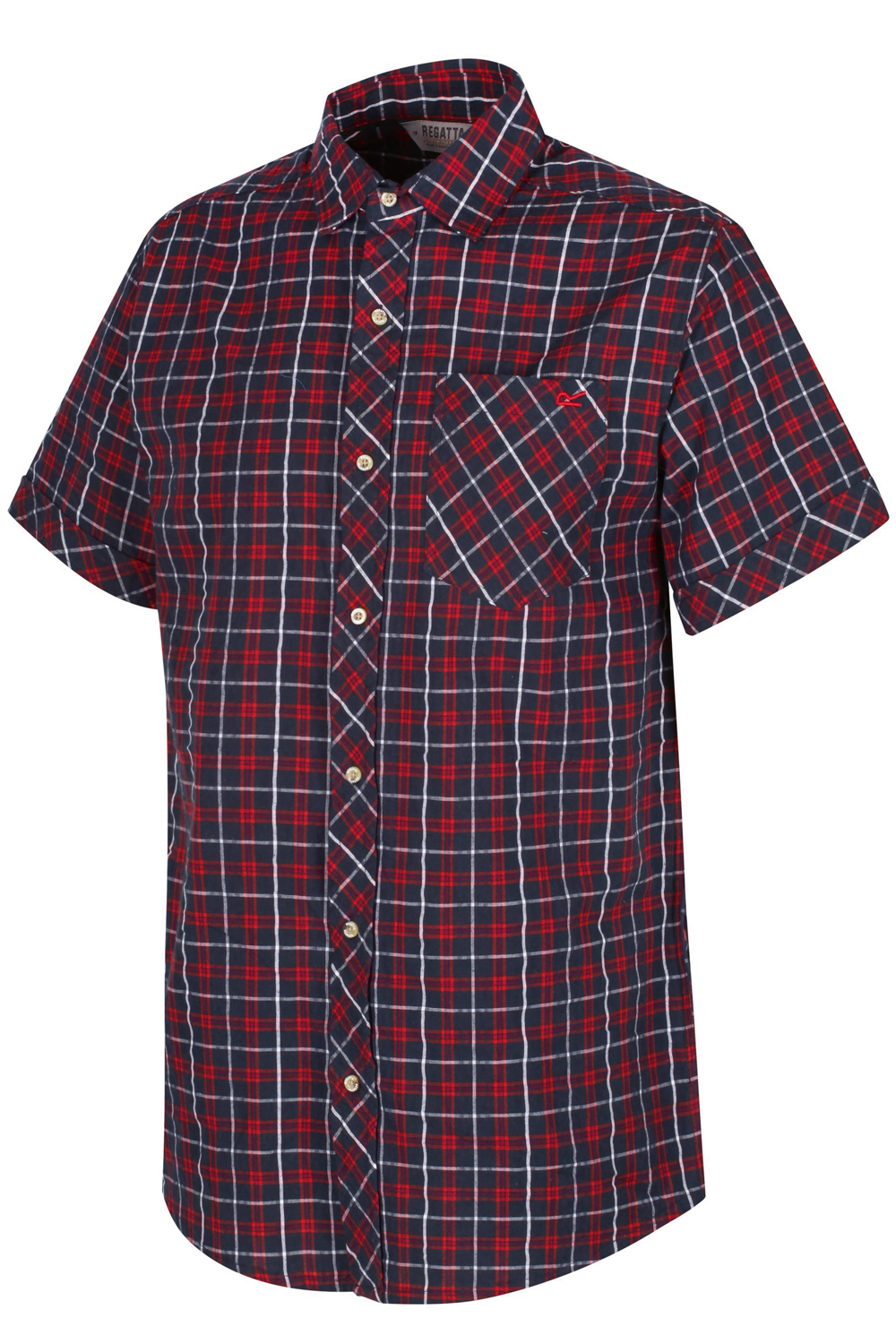 Regatta-Mens-Deakin-II-Coolweave-Cotton-Short-Sleeved-Summer-Check-Shirt-RRP-50 thumbnail 5