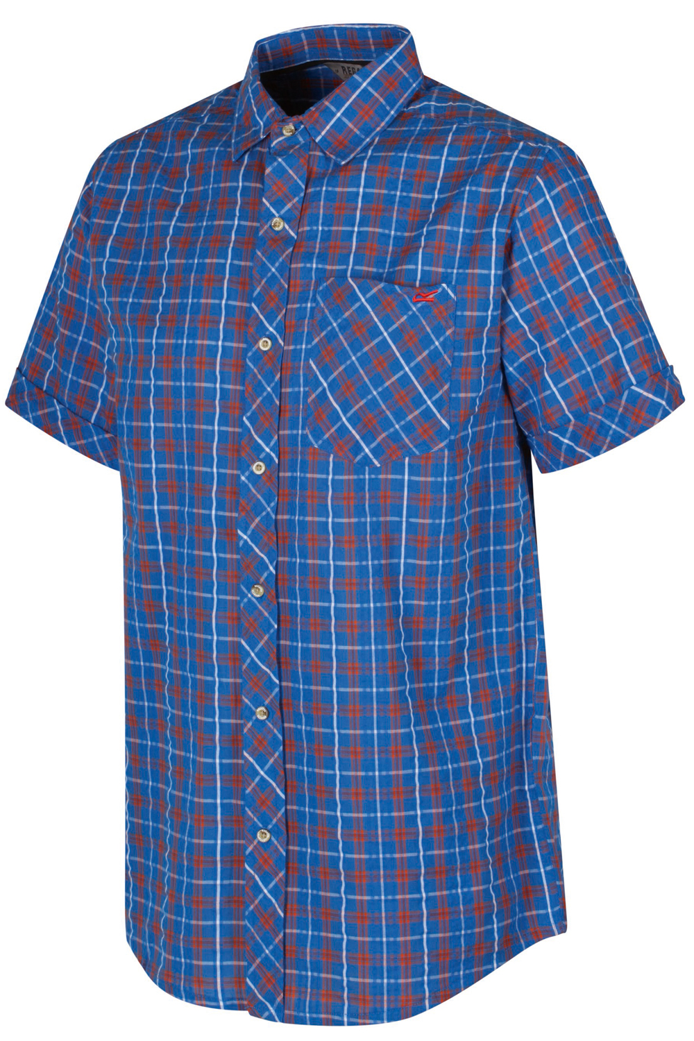Regatta-Mens-Deakin-II-Coolweave-Cotton-Short-Sleeved-Summer-Check-Shirt-RRP-50 thumbnail 26
