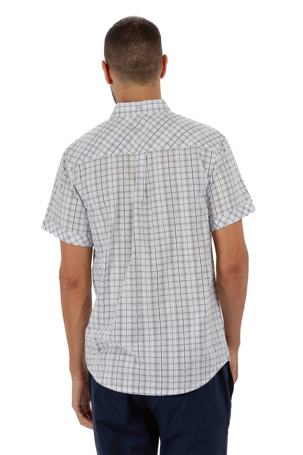 Regatta-Mens-Deakin-II-Coolweave-Cotton-Short-Sleeved-Summer-Check-Shirt-RRP-50 thumbnail 22