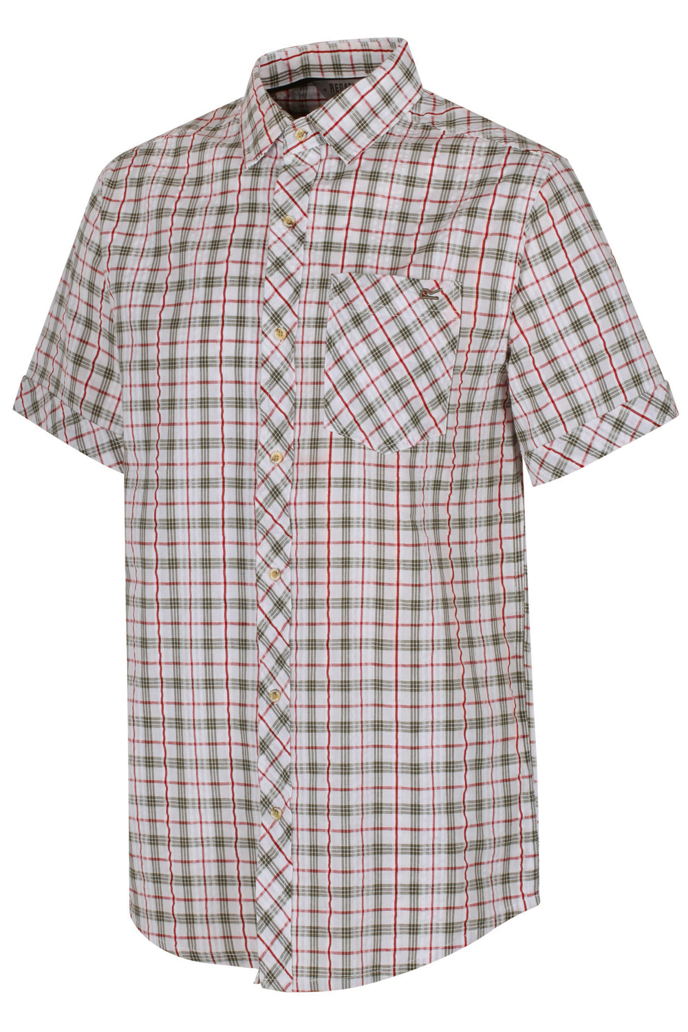 Regatta-Mens-Deakin-II-Coolweave-Cotton-Short-Sleeved-Summer-Check-Shirt-RRP-50 thumbnail 12