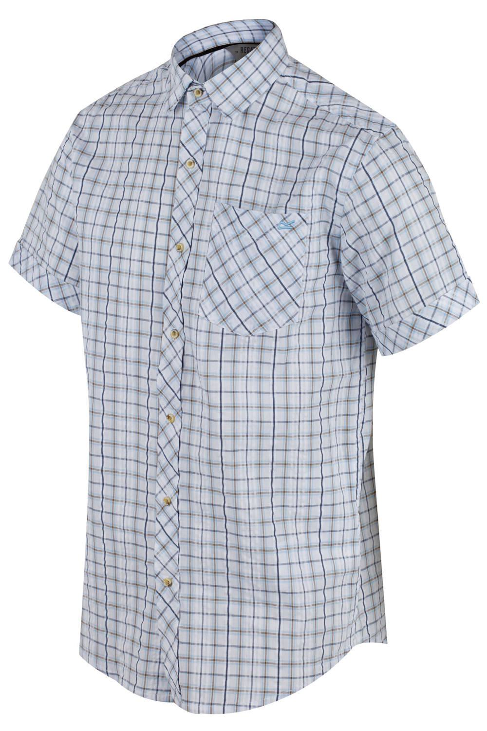 Regatta-Mens-Deakin-II-Coolweave-Cotton-Short-Sleeved-Summer-Check-Shirt-RRP-50 thumbnail 19