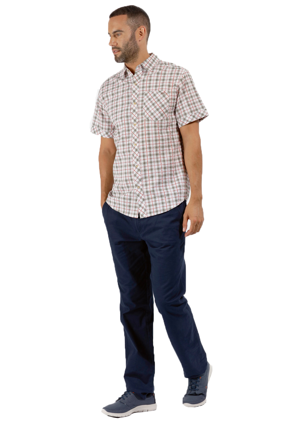 Regatta-Mens-Deakin-II-Coolweave-Cotton-Short-Sleeved-Summer-Check-Shirt-RRP-50 thumbnail 16