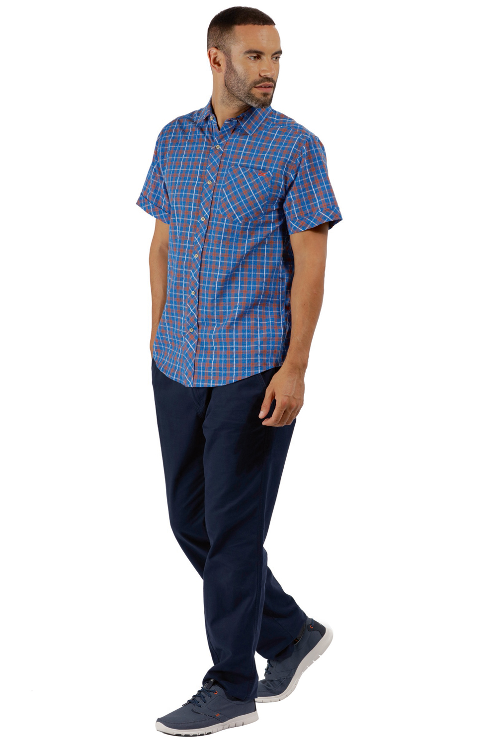 Regatta-Mens-Deakin-II-Coolweave-Cotton-Short-Sleeved-Summer-Check-Shirt-RRP-50 thumbnail 30