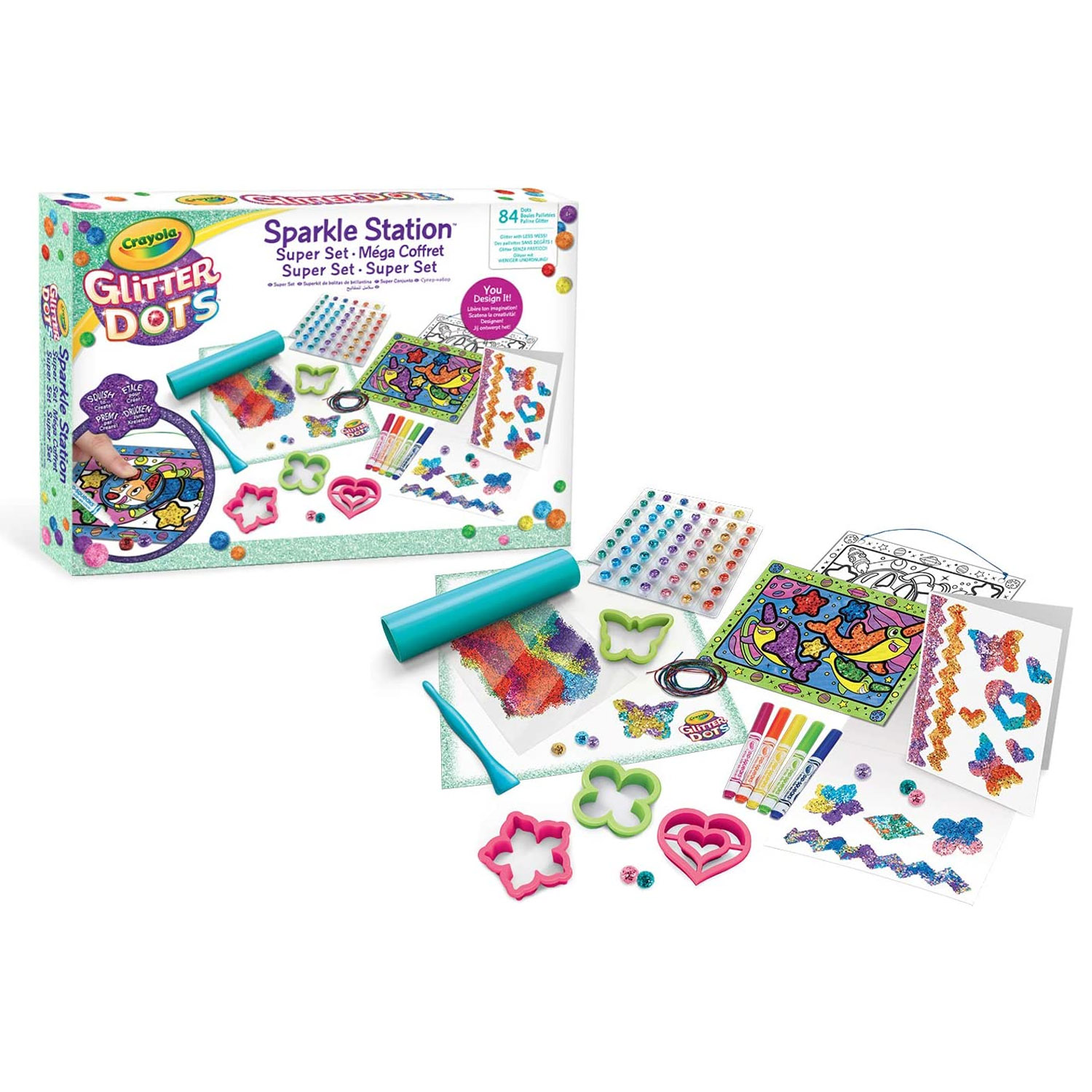 Crayola-Kids-Mouldable-Glitter-Dots-Assortments-OR-Sparkle-Station-Creative-Art thumbnail 3