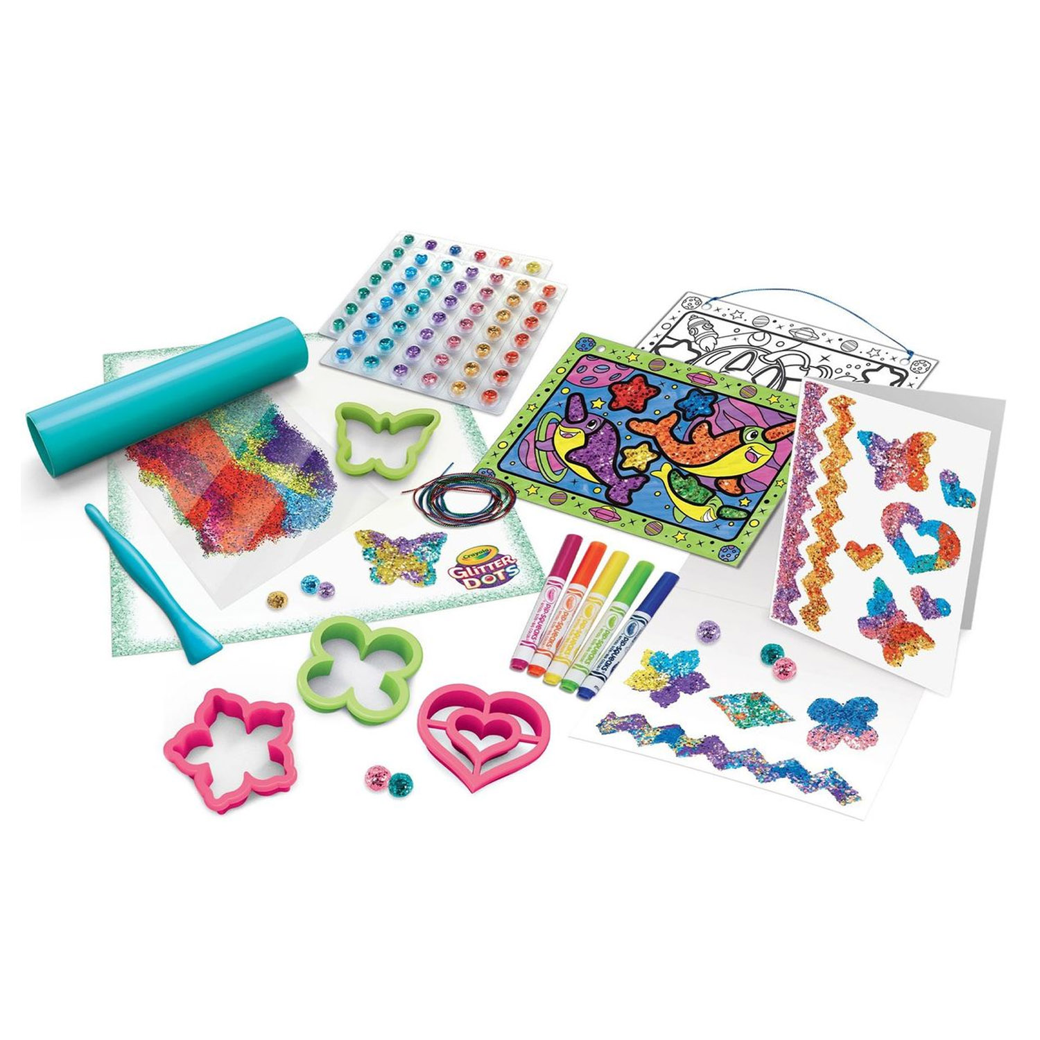Crayola-Kids-Mouldable-Glitter-Dots-Assortments-OR-Sparkle-Station-Creative-Art thumbnail 4
