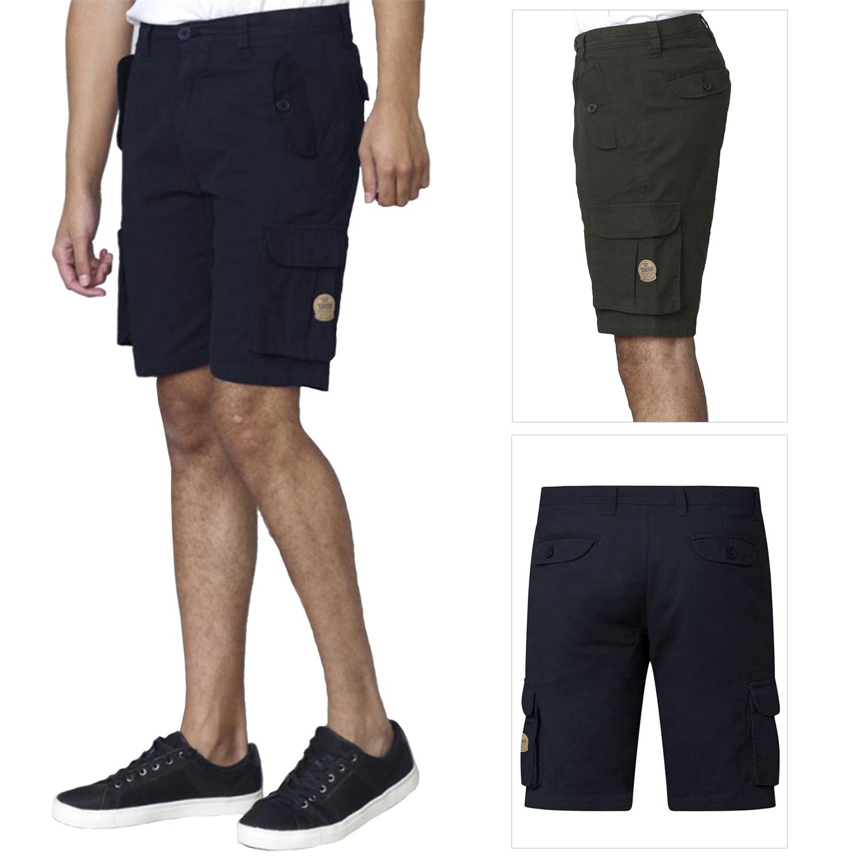 Men/'s Shorts Big /& Tall Combat Cargo D555 Summer Elasticated Drawstring Khaki
