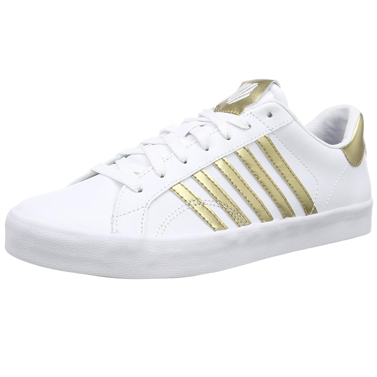 K-Swiss Mujer Belmont SO Designer Sports Trainer Ladies Ladies Trainer Iconic Five Stripe Zapatos f9a4c3