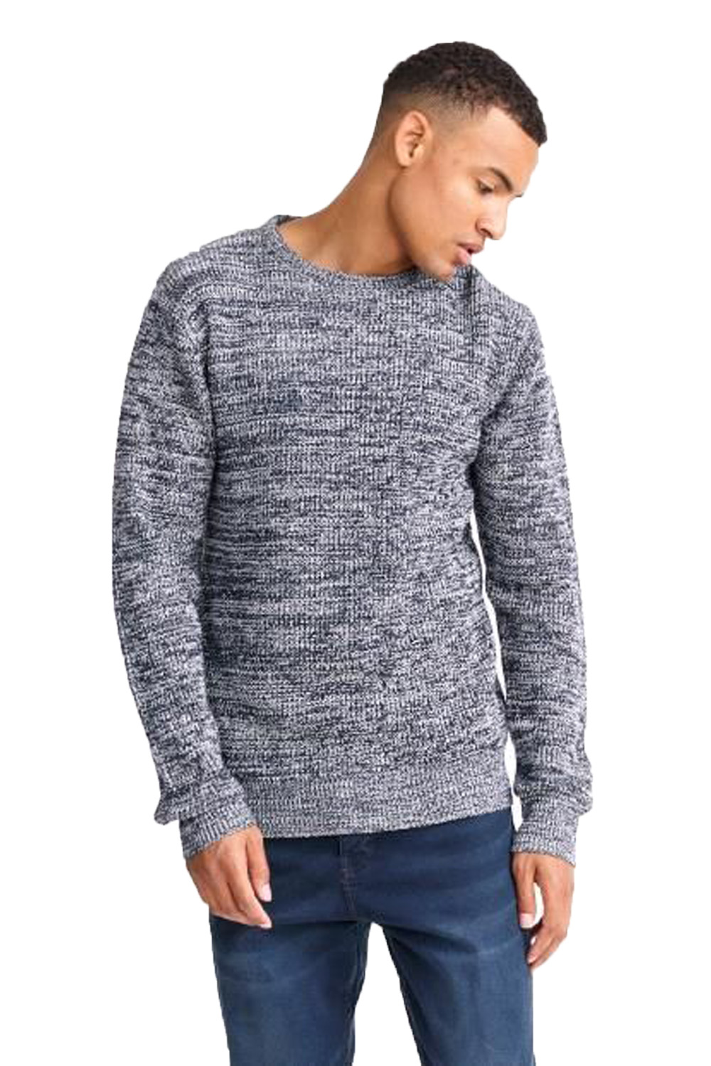 Mens Branded Criminal Cotton Crew Neck Top Larvik Text Knitted Jumper Size S-XL