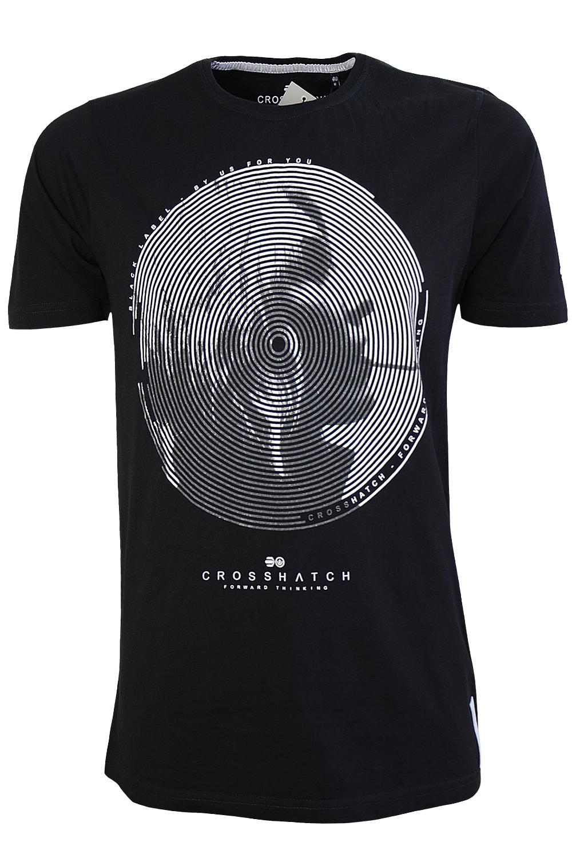 Crosshatch-Smoking-Hot-Mens-T-Shirt-Short-Sleeved-Cotton-Graphic-Print-Top-Tee